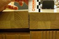 Nahaufnahme Riss in Holzplatte